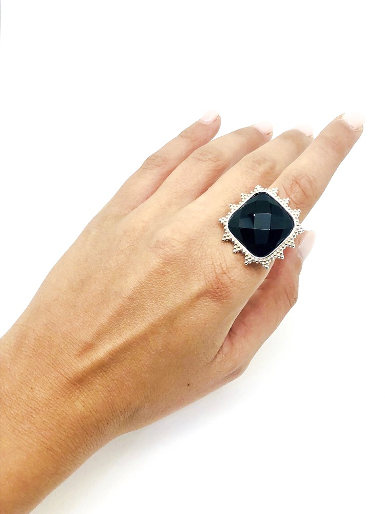 The Onyx Family - Square Shape Ring