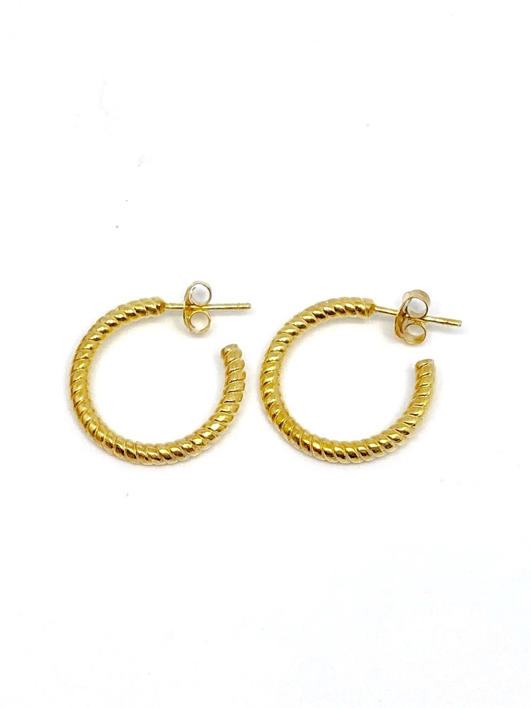 El Greco - Hoop Earrings (Half)