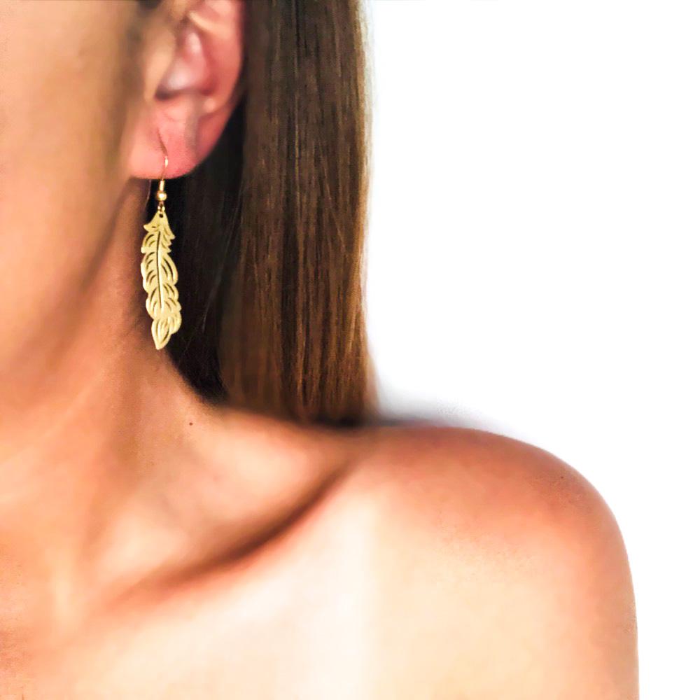Wing - Hook Earrings