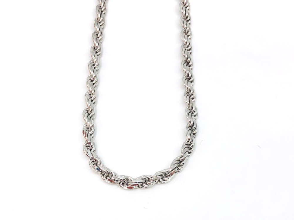 SILVER ROPE CHAIN 60cm
