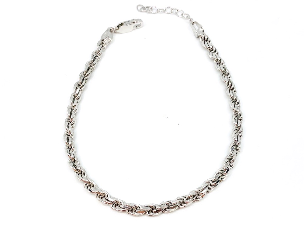 SILVER ROPE CHAIN 16cm