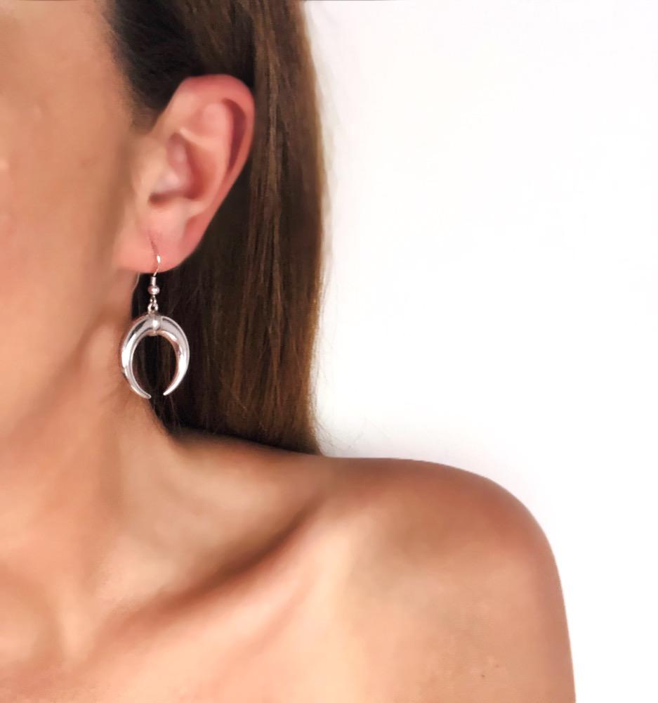 Moon - Hook Earrings