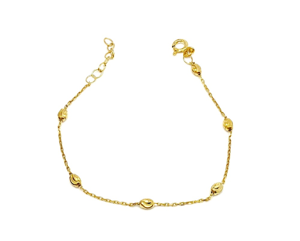 Oval Ball Chain Ankle BR