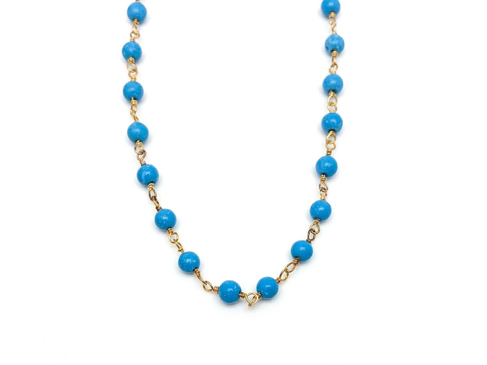 Turquoise Rosary Ankle BR
