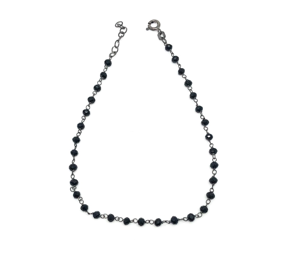Total Black Rosary Ankle BR