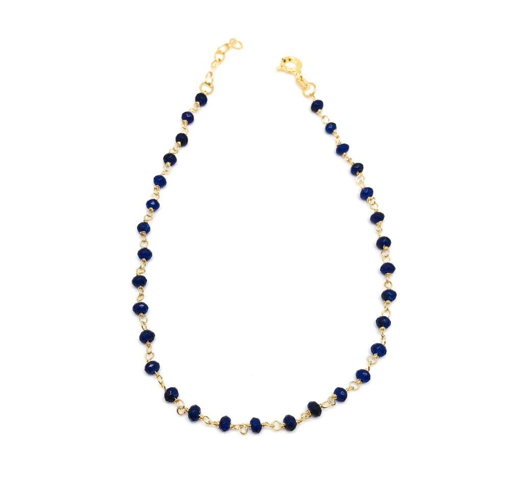 Navy Blue Rosary Ankle BR