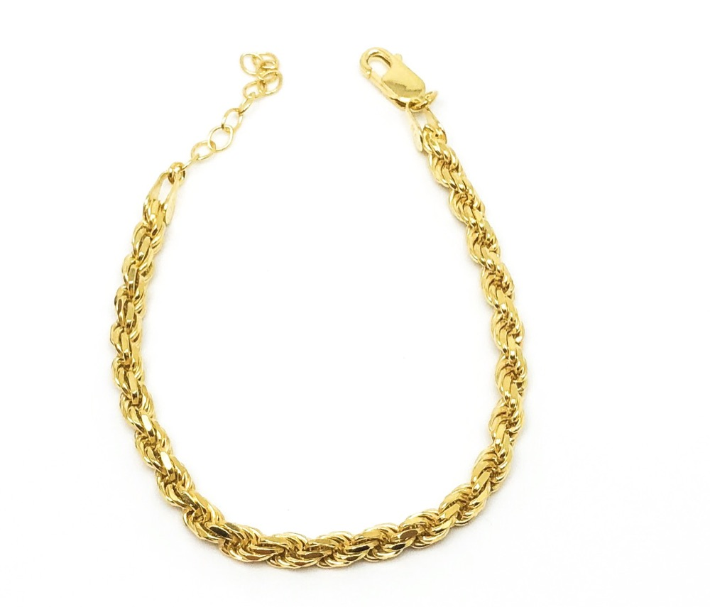 GOLDPLATED ROPE CHAIN 20cm