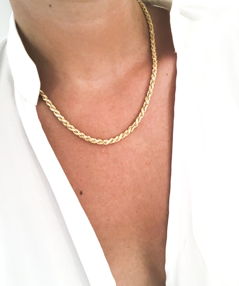GOLDPLATED ROPE CHAIN 45cm