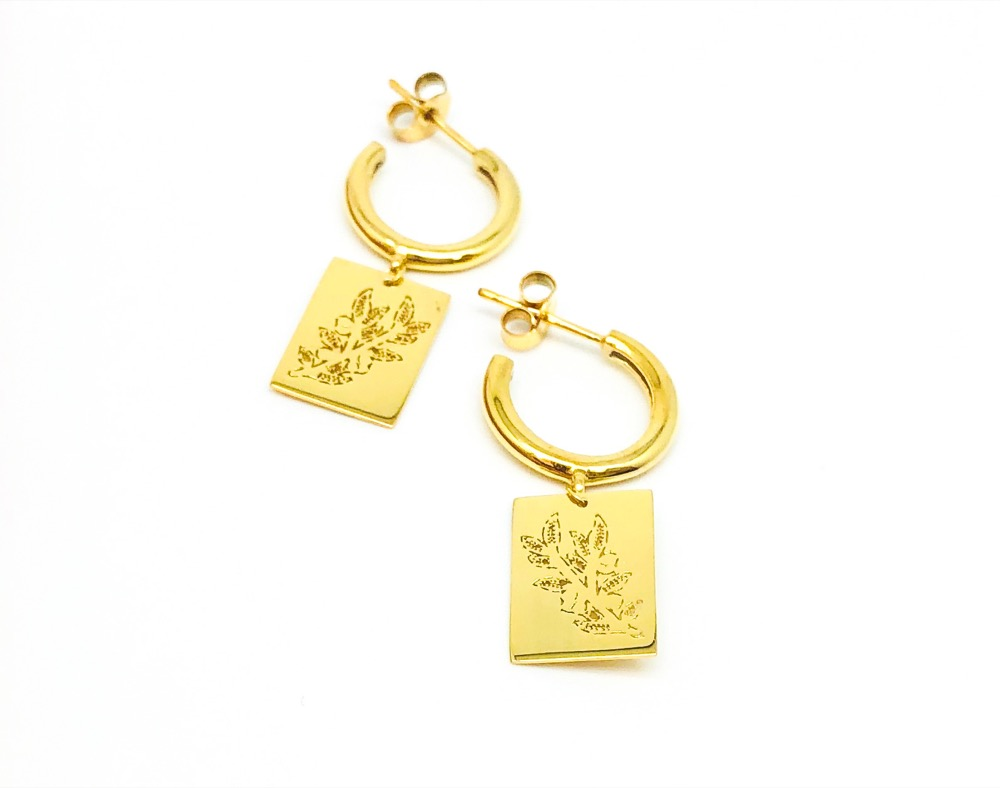 El Greco Olive Earrings