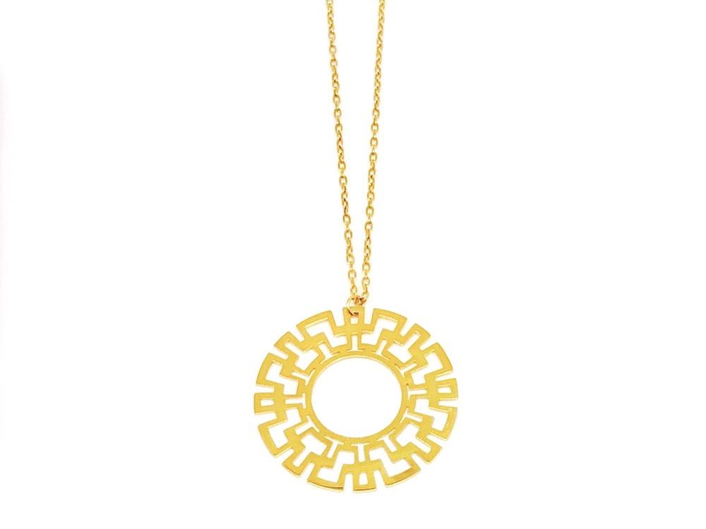 Greek Key/ Meander Necklace