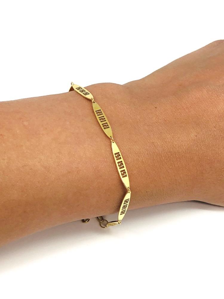 Oval Greek Key / Meander Bracelet (S)