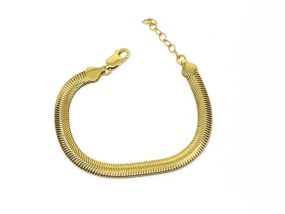 GOLDPLATED SNEAK CHAIN BR 20cm