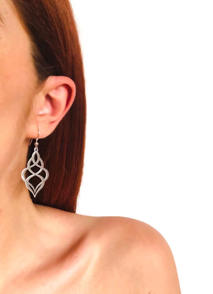 Flower Hook Earrings